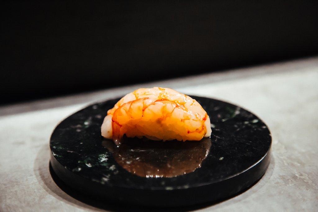 Nordic king shrimp sushi