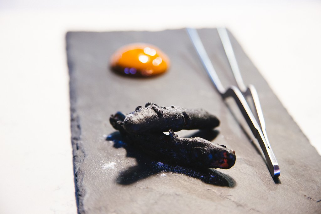 Charred Peppers with soya miso mousse